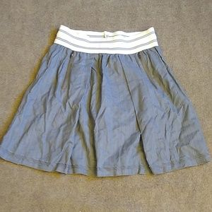 Anthropologie Tiny Nautical Elastic Skirt